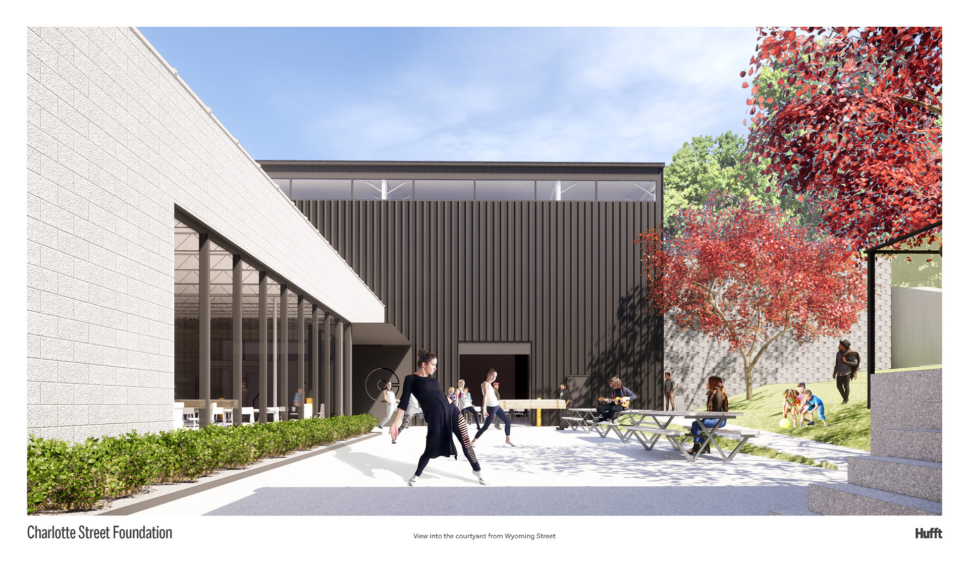 Rendering of Charlotte Street's future courtyard